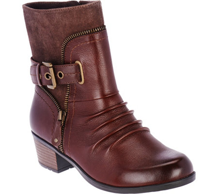 Earth Origins Leather and Suede Boots - Dolly