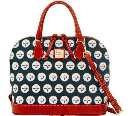 Dooney & Bourke NFL Steelers Zip Zip Satchel