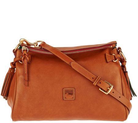 """As Is"" Dooney & Bourke Florentine Leather Medium Zip Crossbody"