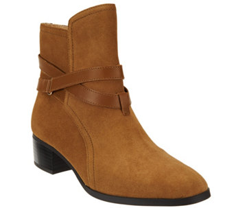 """As Is"" C. Wonder Suede Ankle Boots w/ Strap Details - Taylor - A290368"