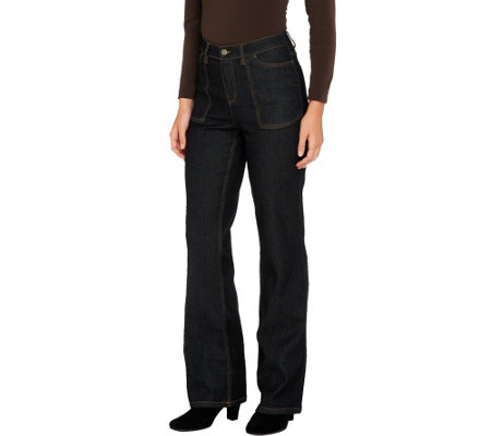 """As Is"" Liz Claiborne New York Petite Jackie Boot Cut Jeans"
