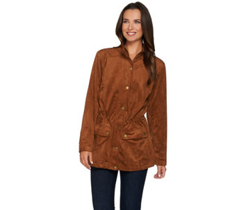 """As Is"" Linea by Louis Dell'Olio Faux Suede Anorak - A291268"