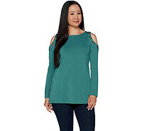 Belle by Kim Gravel Cold Shoulder Top with Grommets - A292968