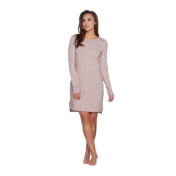 AnyBody Loungewear Cozy Knit French Terry Bateau Dress
