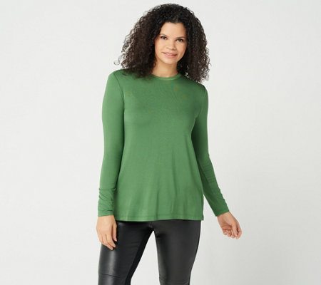 H by Halston Essentials Long Sleeve Crew Neck Top