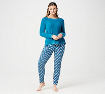 Cuddl Duds Regular Fleecewear Stretch Novelty Pajama Set - A297368