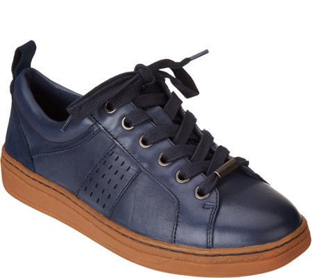 Earth Leather Lace-up Sneakers - Zag
