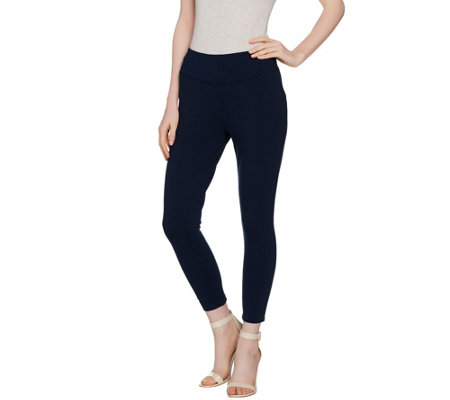 """As Is"" Wicked by Women with Control Petite Cropped Knit Leggings"