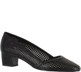 Easy Street Perforated Low Heel Pumps - Imagine - A356868