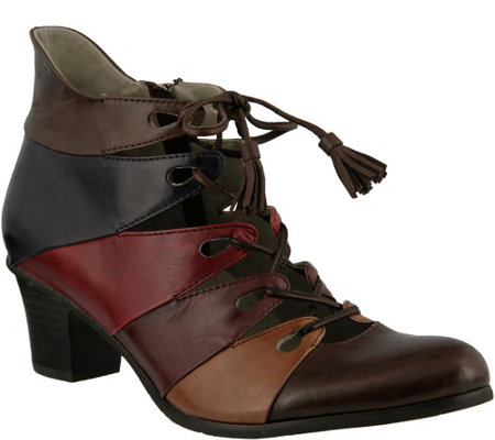 Spring Step Leather Ghillie Shooties - Estrela