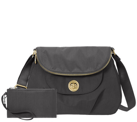Baggallini Flap Zip Hobo and Wristlet - Kuala Flap