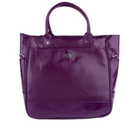 Isaac Mizrahi Live! Coated Canvas North/South Tote
