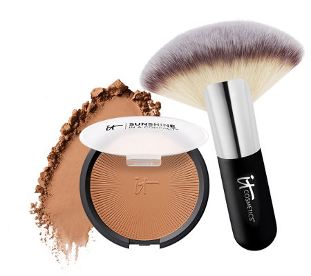 IT Cosmetics Vitality Anti-Aging Matte Bronzer w/Luxe Brush