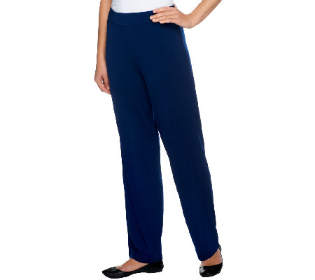 Joan Rivers Regular Luxe Knit Straight Leg Pull-on Pants