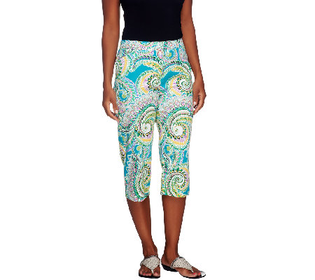 Susan Graver Printed Cotton Sateen Pedal Pusher