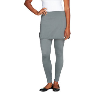 Skootskirt Ankle Length Skirted Leggings - A257069