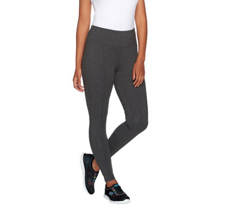 Denim & Co. Active Duo-Stretch Leggings with Pintuck Detail
