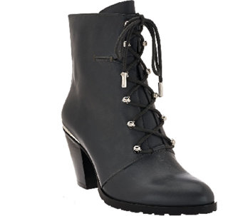 Aimee Kestenberg Leather Lace-up Boots - Danielle - A260269