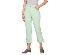 Quacker Factory Lady Leopard DreamJeannes Crop Pants - A262869