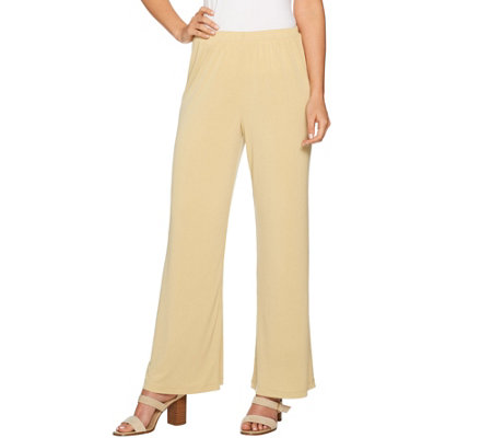 Joan Rivers Petite Length Pull-on Jersey Knit Palazzo Pants