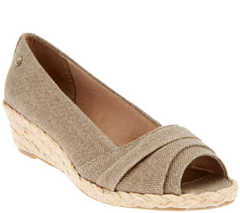 Lifestride Espadrille Peep Toe Wedge - Lavish - A266469
