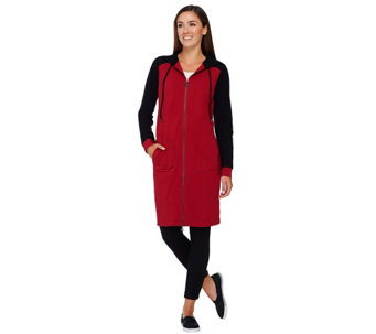 Linea Leisure by Louis Dell'Olio Zip Front Hooded Dress - A267869
