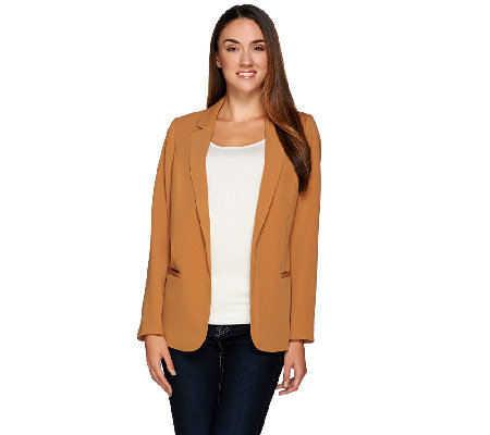 Denim & Co. Open Front Soft Blazer with Pockets