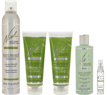 Nick Chavez Velvet Mesquite Cleanse, Treat & Style 5-Piece Kit