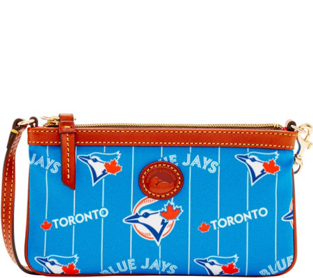 Dooney & Bourke MLB Nylon Blue Jays Large Slim Wristlet