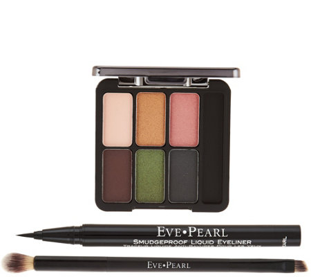 EVE PEARL Ultimate_Eye Palette with Liner & Dual Brush