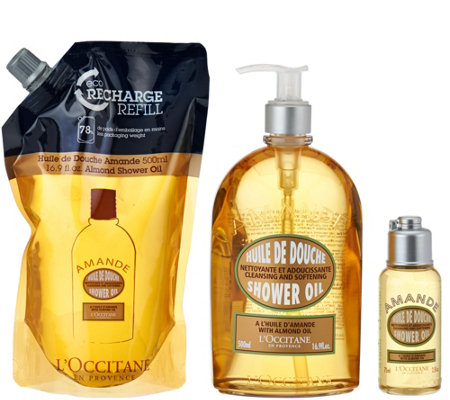 L'Occitane Almond Shower Oil Trio