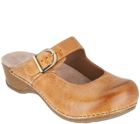 Dansko Leather Mary Jane Mules - Martina