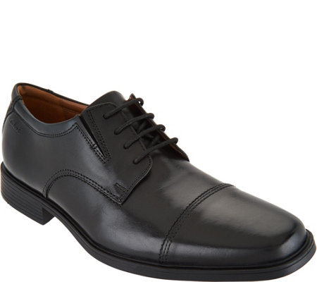 Clarks Men's Leather Lace-up Dress Shoes - Tilden Cap
