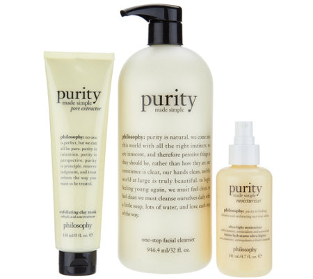 philosophy super-size purity 3-piece balanced skincare system