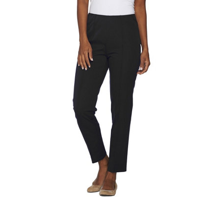 """As Is"" Isaac Mizrahi Live! Petite 24/7 Stretch Ankle Pants w/Detail"