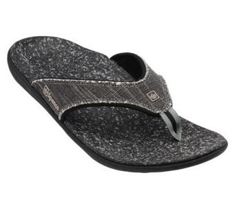 Spenco Men's Yumi Canvas Thong Sandals - A330869