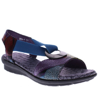 Spring Step Leather Sandals - Crespo - A336569