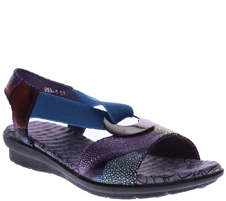 Spring Step Leather Sandals - Crespo