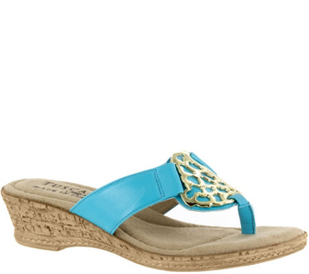 Tuscany by Easy Street Wedge Sandals - Rossano