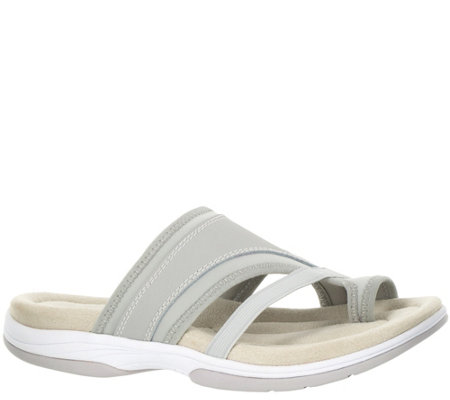 Easy Street Leather & Fabric Sport Slide Sandals - Gypsy
