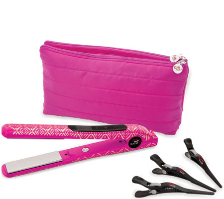 CHI Smart GEMZ Volumizing Hairstyling Iron w/Clips&Bag