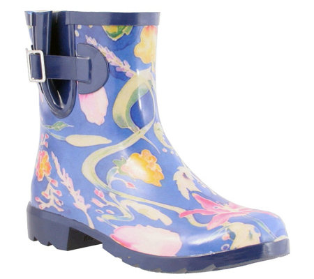 Nomad Rubber Rain Boots - Droplet III  Flower F airies