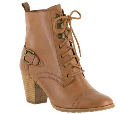 Bella Vita Leather Lace-up Ankle Boots - Kennedy