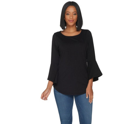 """As Is"" Belle by Kim Gravel Essentials Bell Sleeve Top"