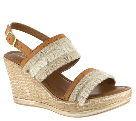 Tuscany by Easy Street Wedge Sandals - Zaira