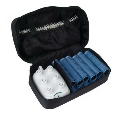 Calista Tools Set of 12 Ion Hot Rollers with Clips and Travel Bag