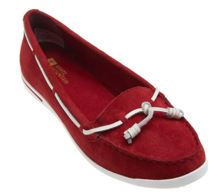White Mountain Boat Shoes w/ Tie Detail