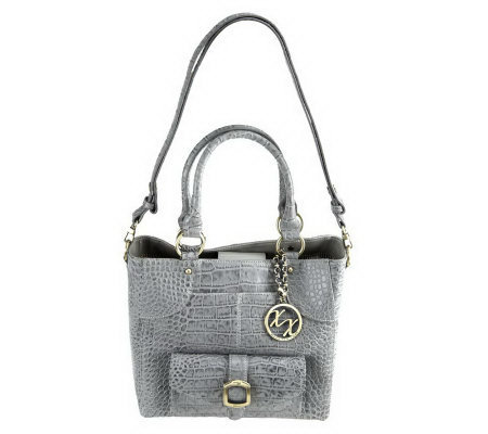 Maxx New York Croco Embossed Leather Small Shopper