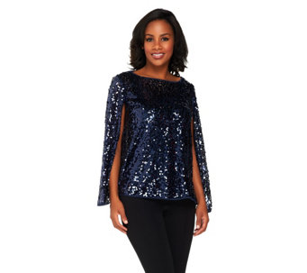 VT Luxe All Over Sequin Capelet - A227970