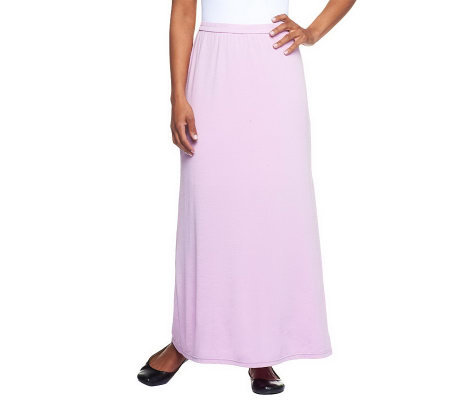 Linea by Louis Dell'Olio Regular Fit Feather Jersey Maxi Skirt